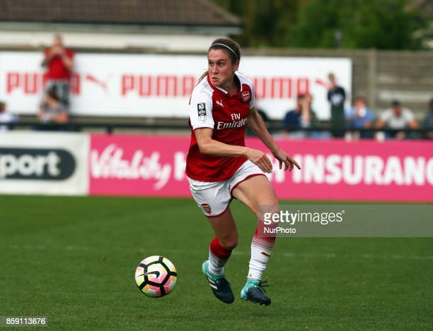 Heather O'Reilly of Arsenal during Women's Super League 1match between Arsenal against Bristol City Women at Meadow Park Borehamwood FC on 08 Oct 2017