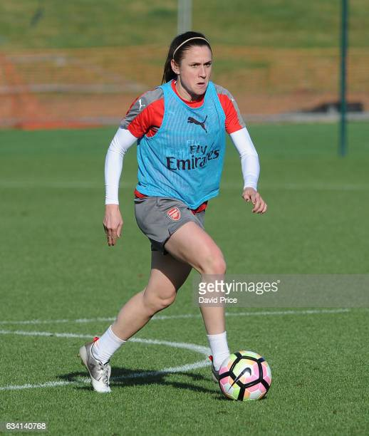 Heather O'Reilly of Arsenal Ladies during Arsenal Ladies Training Session at London Colney on February 7 2017 in St Albans England