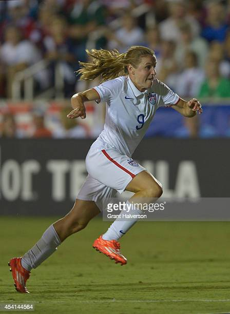 Heather O'Reilly of the US women's national team during their match against the Swiss women's national team at WakeMed Soccer Park on August 20 2014...