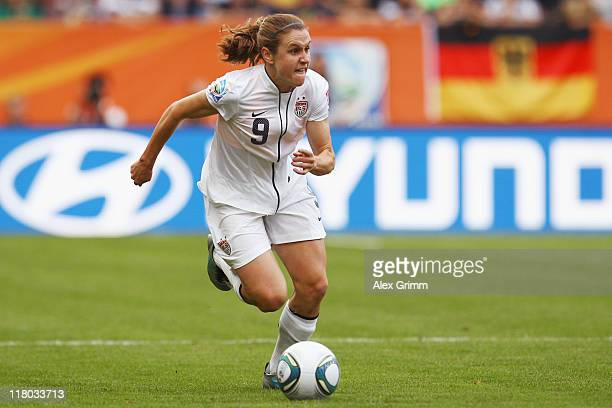 Heather O'Reilly of USA controles the ball during the FIFA Women's World Cup 2011 Group C match between USA and Colombia at the Fifa Womens World Cup...