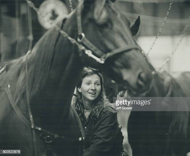 Heather O'Toole 29 and a groom lives with her husband on the backstretch From St John's she is frightened by crime in Toronto but says 'Here I feel...