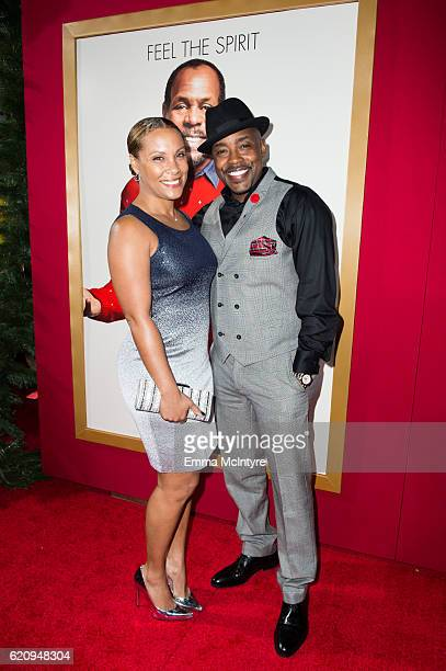 Heather Hayslett and actor Will Packer arrive at the premiere of Universal's 'Almost Christmas' at Regency Village Theatre on November 3 2016 in...