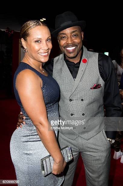 Heather Hayslett and producer Will Packer arrive at the premiere of Universal's 'Almost Christmas' at Regency Village Theatre on November 3 2016 in...