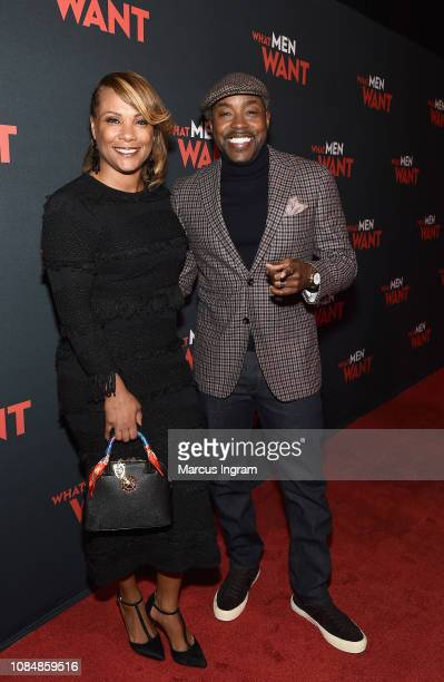 Heather Hayslett and produer Will Packer attend a special screening of 'What Men Want' at Regal Atlantic Station on January 18 2019 in Atlanta Georgia