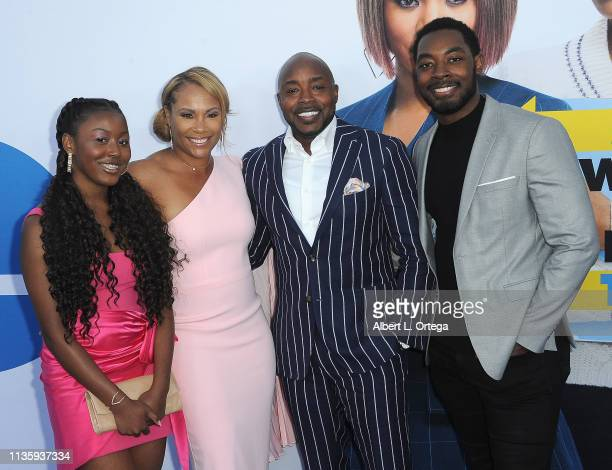 Heather Hayslett and Will Packer with guests arrive for The Premiere Of Universal Pictures Little held at Regency Village Theatre on April 8 2019 in...