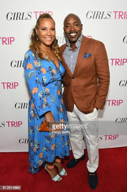 Heather Hayslett Packer and Will Packer at Girls Trip Atlanta special screening at SCADshow on July 11 2017 in Atlanta Georgia