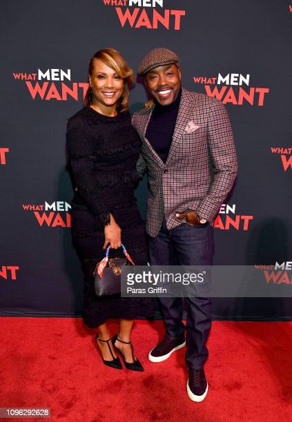 Heather Hayslett Packer and Will Packer attend a special screening of 'What Men Want' at Regal Atlantic Station on January 18 2019 in Atlanta Georgia