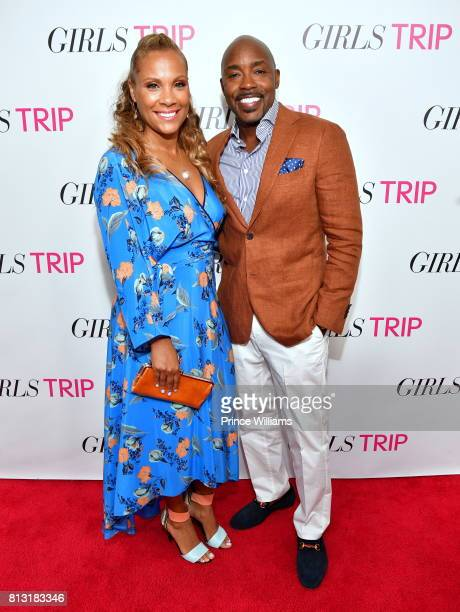 Heather Hayslett Packer and Will Packer attend Girls trip Atlanta screening at SCADshow on July 11 2017 in Atlanta Georgia