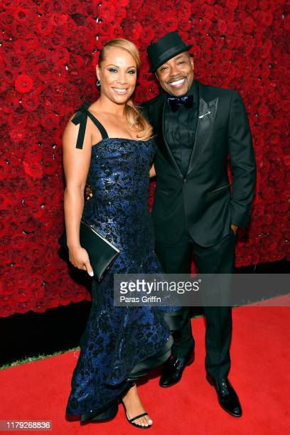 Heather Hayslett Packer and Will Packer attend Tyler Perry Studios grand opening gala at Tyler Perry Studios on October 05 2019 in Atlanta Georgia