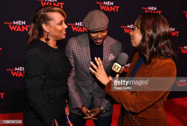 Heather Hayslett Packer Will Packer and Nischelle Turner attend a special screening of 'What Men Want' at Regal Atlantic Station on January 18 2019...