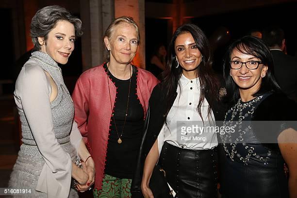 Heather Podesta Jennifer Maquire Isham Abeer Al Otaiba and Elena Allbritton attend the ELLE and Hugo Boss Women in Washington Power List Dinner at...