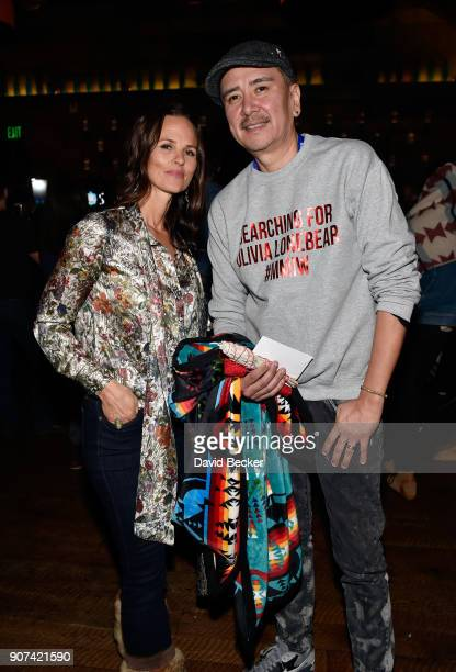 Heather Rae and BenAlex Dupris attend Steelhouse and Eternal Front presents Beyond the Front Lines during the 2018 Sundance Film Festival on January...