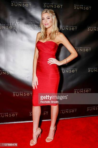 Heather Rae Young attends Netflix Selling Sunset Launch Party on March 23 2019 in West Hollywood California