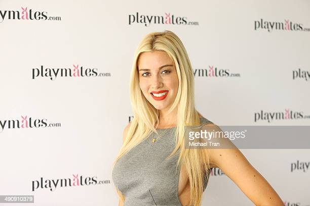Heather Rae Young attends Playboy's 2014 Playmate Of The Year announcement held at The Playboy Mansion on May 15 2014 in Beverly Hills California