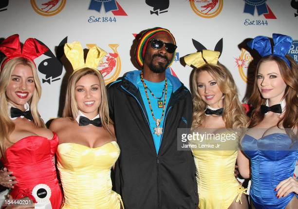 Heather Rae Young Ciara Price Snoop Dogg Tiffany Toth and Kimberly Phillips attend the Snoop Dogg Presents Colt 45 Works Every Time mansion party...