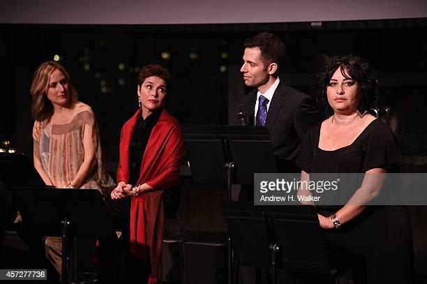 Heather Raffo Christine Andreas Bridges Of Understanding Executive Director Faisal AlJuburi and Lubana Al Quintar appear onstage at Bridges Of...