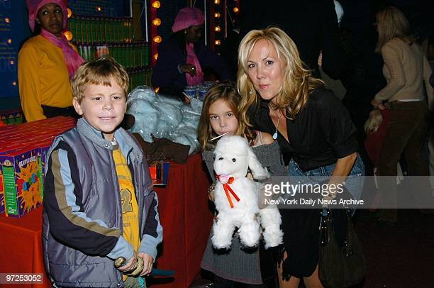Heather Randall Tony Randall's widow takes children Jefferson and Julia to the Big Apple Circus' opening night gala benefit in Lincoln Center's...