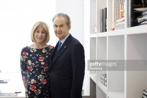 Heather Reisman founder and chief executive officer of Indigo Books Music Inc left and Gerry Schwartz founder and chief executive officer of Onex...