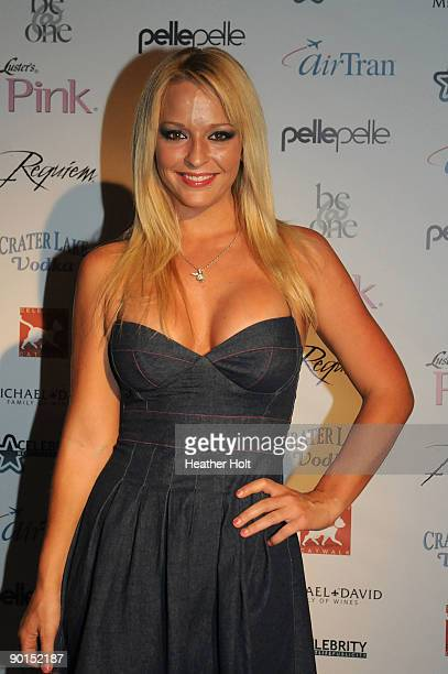Heather Rene Smith arrives on the red carpet at the Celebrity Catwalk's 9th Annual Fashion Show on August 27 2009 in Los Angeles California
