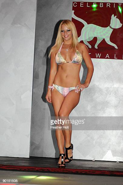 Heather Rene Smith walks the catwalk at the Celebrity Catwalk's 9th Annual Fashion Show on August 27 2009 in Los Angeles California