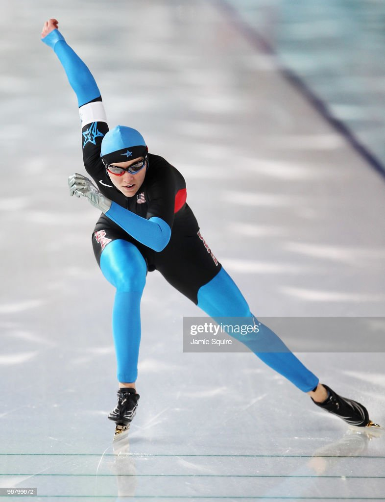 Heather Richardson of the United States competes in the women's speed skating 500 m on day five of the Vancouver 2010 Winter Olympics at Richmond Olympic Oval on February 16, 2010 in Vancouver, Canada.