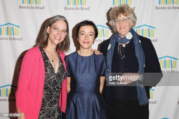Heather Simpson Lucina Di Meco and Cynthia Lloyd attend Room To Read 2018 International Day Of The Girl Benefit at One Kearny Club on October 11 2018...