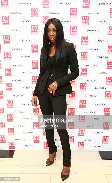 Heather Small arrives at the Pandora lunch in support of The British Heart Foundation on September 29 2014 in London England