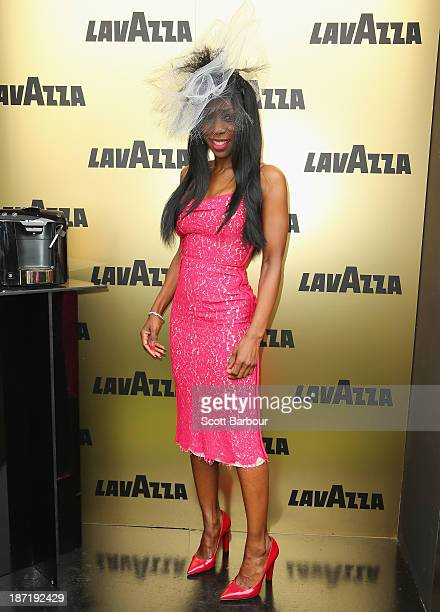Heather Small attends the Lavazza marquee during Oaks Day at Flemington Racecourse on November 7 2013 in Melbourne Australia