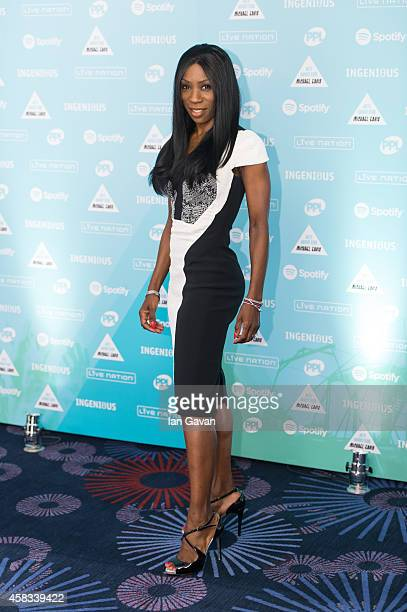 Heather Small attends the Music Industry Trust Awards at Grosvenor House Hotel on November 3 2014 in London England The Music Industry Trust Award is...