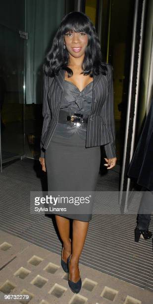 Heather Small attends the PreBrits Blow out Party held at Bungalow 8 on February 15 2010 in London England