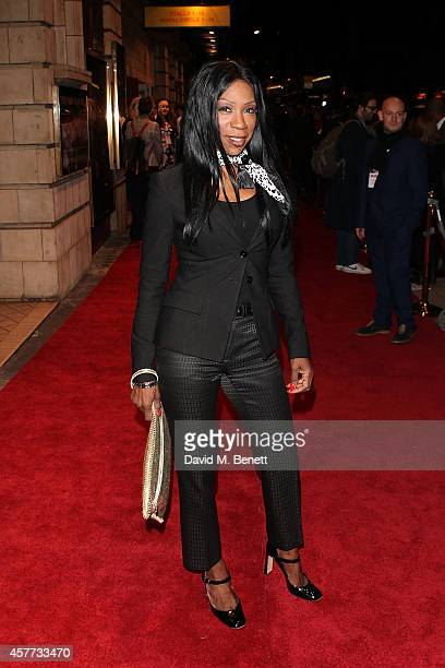Heather Small attends the press night performance of Memphis The Musical at The Shaftesbury Theatre on October 23 2014 in London England