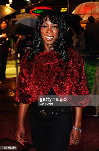 Heather Small attends the UK Premiere of 'Madagascar Escape 2 Africa' at Empire Leicester Square on November 23 2008 in London England