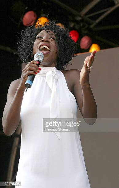 Heather Small during Heather Small Opens The Regent Street Festival September 4 2005 at Regent Street London in London Great Britain