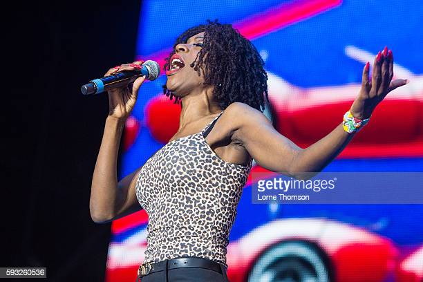Heather Small performs at Rewind South at Temple Island Meadows on August 21 2016 in HenleyonThames England