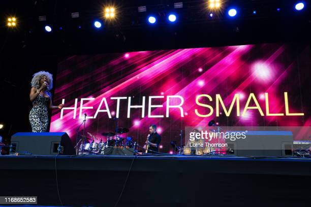 Heather Small performs at Rewind South on August 17 2019 in HenleyonThames England
