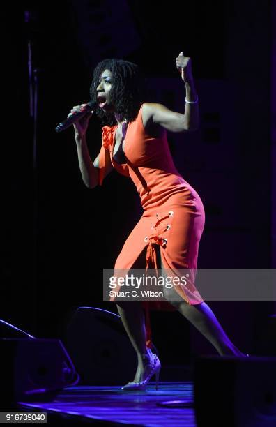 Heather Small performs during Magic Soul at London Palladium on February 10 2018 in London England