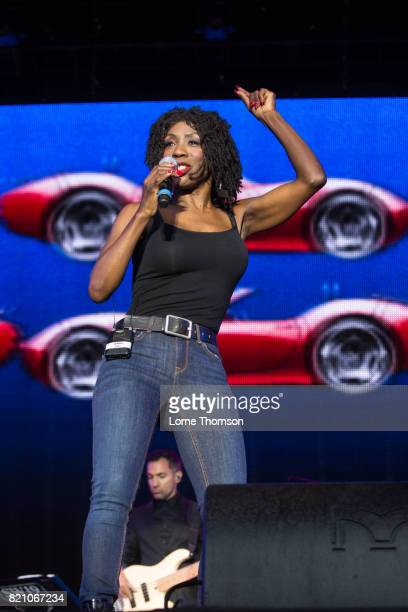 Heather Small performs on Day 2 of Rewind Festival at Scone Palace on July 22 2017 in Perth Scotland