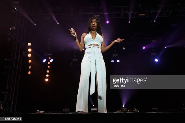 Heather Small performs on stage during Isle of Wight Festival 2019 at Seaclose Park on June 13 2019 in Newport Isle of Wight