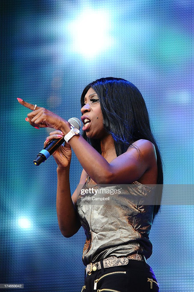 Heather Small performs on stage on Day 2 of Rewind Festival 2013 at Scone Palace on July 27, 2013 in Perth, Scotland.