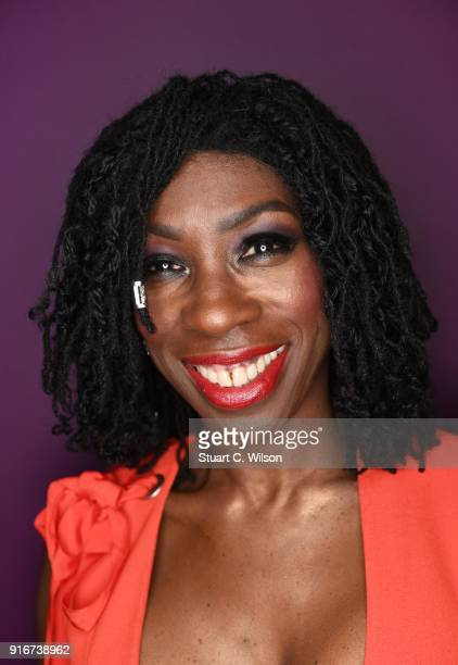 Heather Small poses backstage during Magic Soul at London Palladium on February 10 2018 in London England