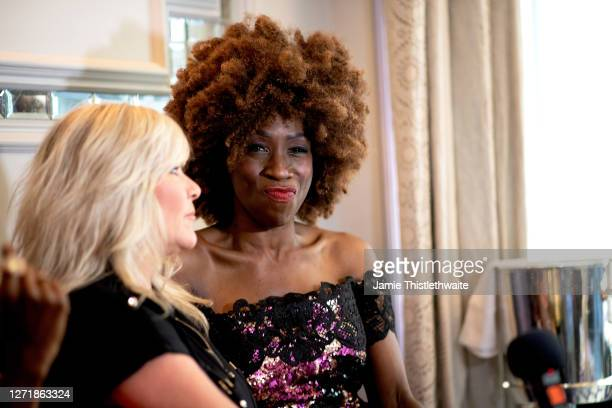 """Heather Small poses during the """"Henpire"""" podcast launch event at Langham Hotel on September 10, 2020 in London, England."""