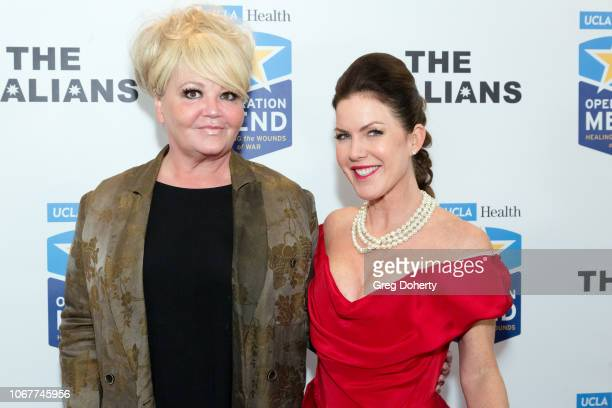 Heather Stewart joins Kira Reed Lorsch as they attend The Thalians Holiday Party with Kira Reed Lorsch as Chair at Bel Air Country Club on December 1...