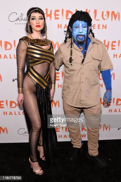 Heather Taras and Daymond John attend Heidi Klum's 20th Annual Halloween Party presented by Amazon Prime Video and SVEDKA Vodka at Cathédrale New...