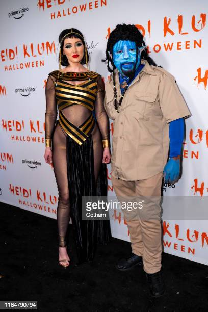 Heather Taras and Daymond John attend Heidi Klum's 20th Annual Halloween Party at Cathédrale on October 31 2019 in New York City