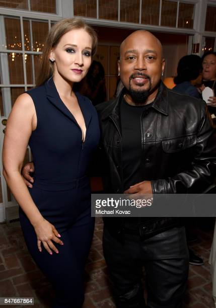Heather Taras and Daymond John attend the 2017 Gersh Emmy Party presented by Tequila Don Julio 1942 on September 15 2017 in Los Angeles California