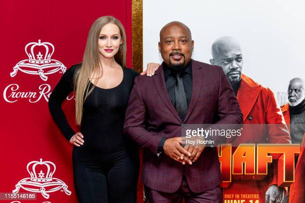 Heather Taras and Daymond John attends the Shaft New York Premiere at AMC Lincoln Square Theater on June 10 2019 in New York City
