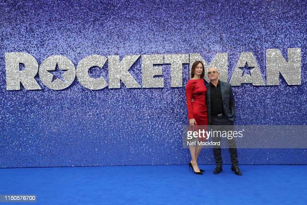 Heather Taupin and Bernie Taupin attend the Rocketman UK premiere at Odeon Luxe Leicester Square on May 20 2019 in London England