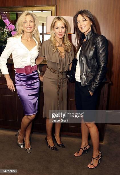 Heather Thomas, Brooke Davenport and Tamara Mellon in Los Angeles, California