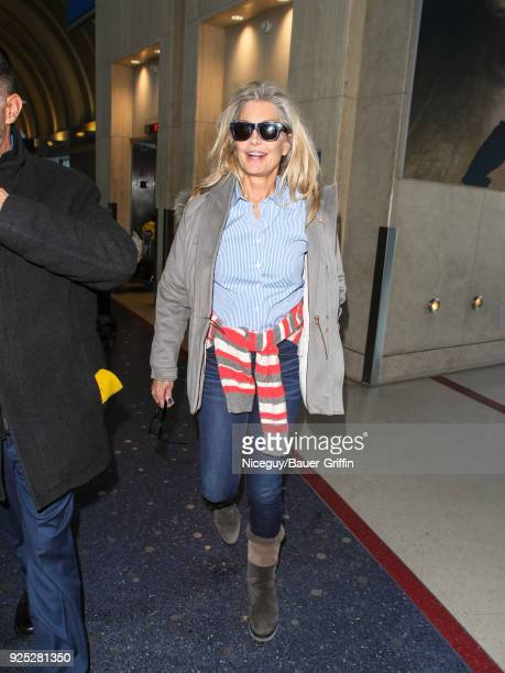 Heather Thomas is seen at Los Angeles International Airport on February 27 2018 in Los Angeles California