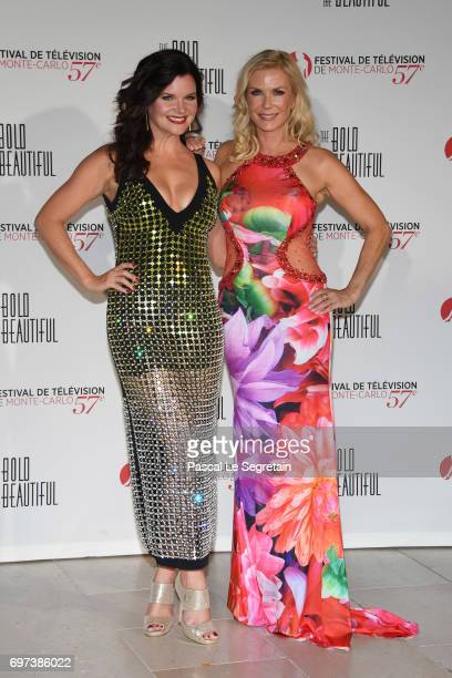 Heather Tom and Katherine Kelly Lang attend the 'The Bold and The Beautiful' 30th Years anniversary during the 57th Monte Carlo TV Festival Day 3 on...